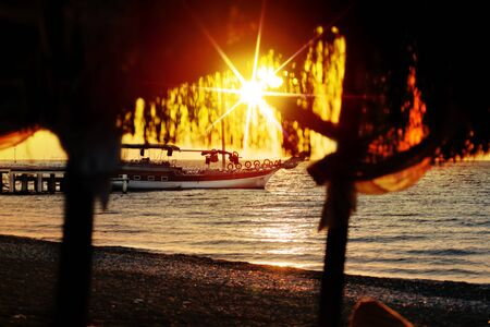catchlight: sun on beach at sunday Stock Photo