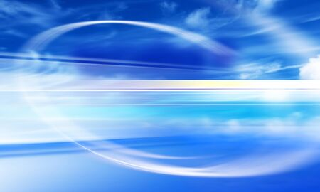 design of blue sky with blur lines Stock Photo