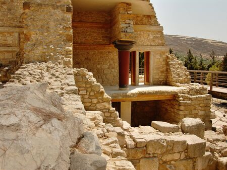 venerable: palace ruins which are found during excavation on the island of Crete