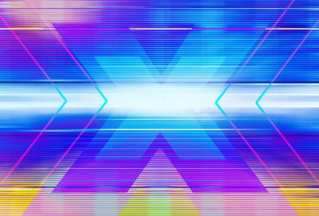 Technology background with transparent geometric shapes