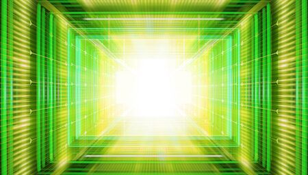 Technology background with transparent geometric shapes like matrix Stock Photo