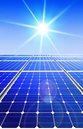 Renewable, alternative solar energy, sun-power plant  Stock Photo