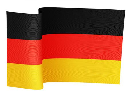 illustration of the German flag on a white background Stock Photo