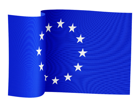 illustration of the European Union flag on a white background Stock Photo