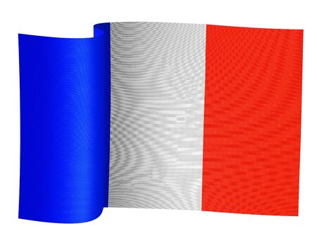 truce: illustration of the French flag on a white background