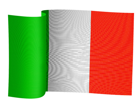 illustration of the Italian flag on a white background