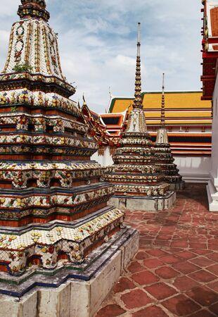Beautiful Wat Phra Kaeo temple gable in Thailand