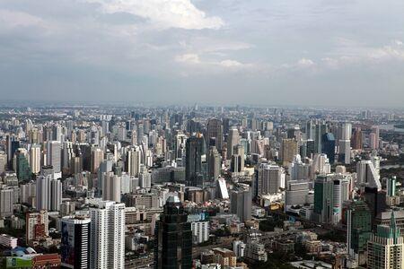 BANGKOK, THAILAND - DECEMBER 23: Bird eye view of Traffic on December 23, 2013 in Bangkok.