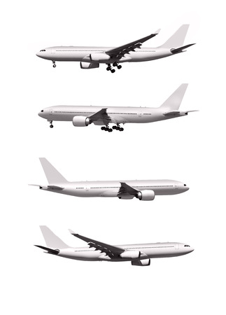 commercial airplanes isolated on white background Stock Photo