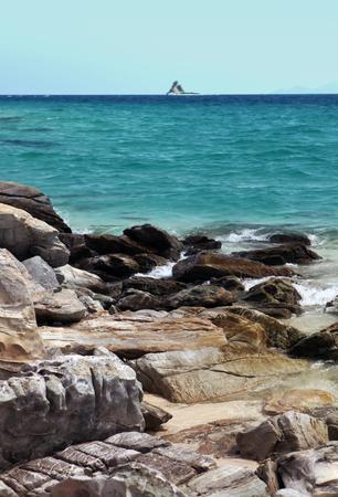 beautiful ocean with rocks, island of Thailand