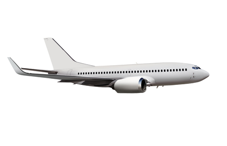 commercial airplane isolated on white background Banque d'images - 113775909