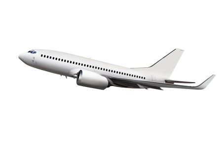 commercial airplane isolated on white background Stockfoto