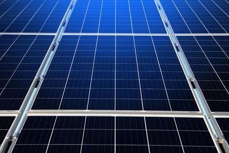 part of renewable, alternative solar energy, sun-power plant  Stockfoto