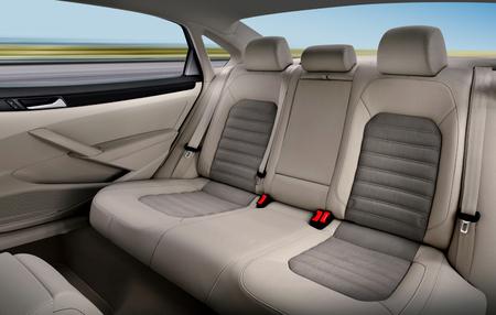 back passenger seats in modern luxury comfortable car Stockfoto