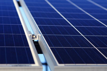Renewable, alternative solar energy, sun-power plant  Stockfoto