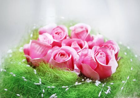 bouquet of roses for wedding, scenery from flowers