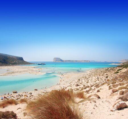 Beach of Crete where is pink sands. 版權商用圖片