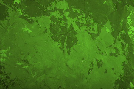 Abstract grunge wall texture background. Green painted cement backdrop.