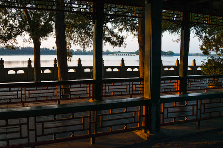 summer palace: Long corridor is the famous promenade in the Summer Palace.