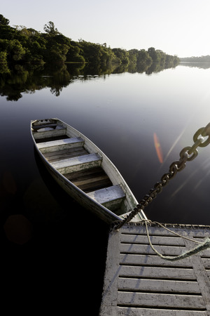 rio amazonas: Barco en el r�o Amazonas, Brasil