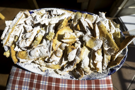 chiacchiere: Trational dish in carnival, Naples, Italy