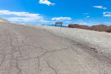 death valley: Bench in Death Valley, CA