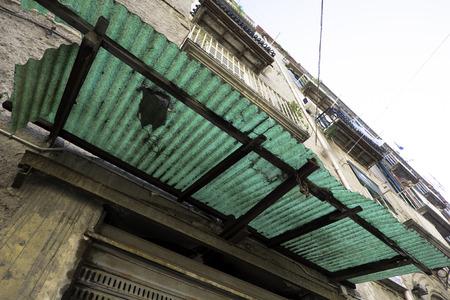 canopy: Transparent canopy, Naples Stock Photo