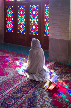 shiraz: Shiraz, mosque nasir al-mulk, Iran Stock Photo