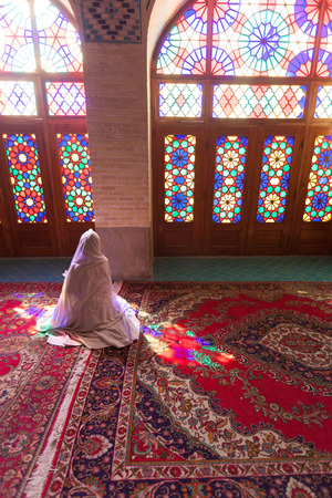 Shiraz, mosque nasir al-mulk, Iran Stock Photo
