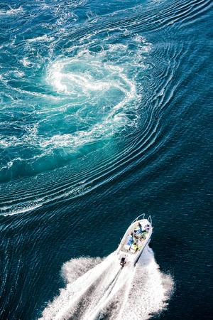 natural phenomenon: Maelstrom, natural phenomenon of whirlpool, called saltstraumen, Norway Stock Photo