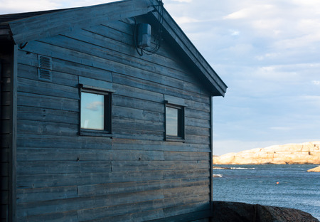 ende: House,  Verdens Ende, Land Stock Photo