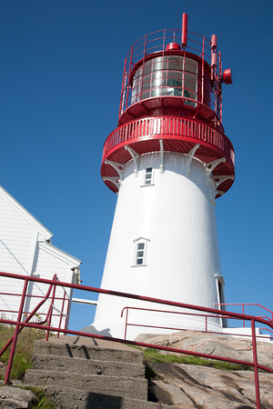 ende: Lighthouse, Southern Norway, Verdens Ende, Land Stock Photo