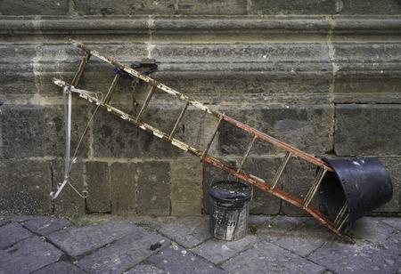 Napoli: Ladder with lock. Napoli, Italy