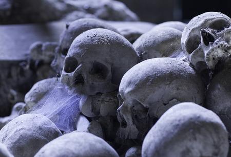 naples: skull in fontanels cemetery, Naples
