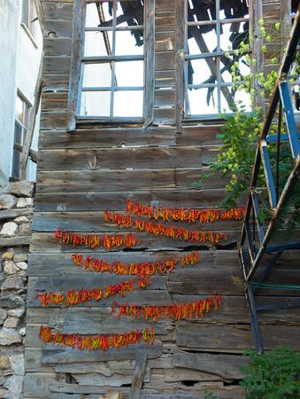 anatolia: Chillis outside a farm house, Anatolia,  Turkye