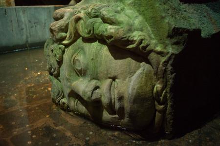 The Basilica Cistern (Yerebatan Sarayi in turkish or Sarnici) is the largest underground cistern still preserved in Istanbul photo