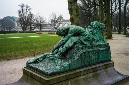 onu: Park of cinquantenaire, European zone Bruxelles,Belgium Editorial