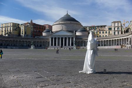 Piazza del plebiscito, Naples, Italie