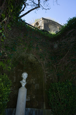 virgil: Tomb of Virgil, Roman poet who wrote Aeneid, the famous companion of Dantes Divine Comedy, Naples, Italy Editorial