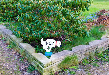 illegal zone: a signal for dog owners to not pooing in Denmark