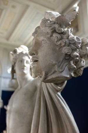 Perseus and Medusa, marble statues, Carlsberg museum Editorial