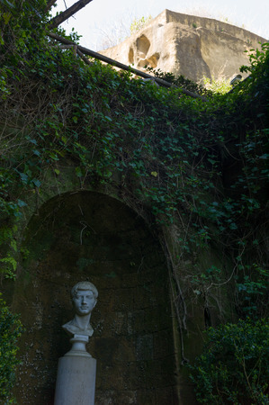 companion: Tomb of Virgil, Roman poet who wrote Aeneid, the famous companion of Dantes Divine Comedy, Naples, Italy Editorial