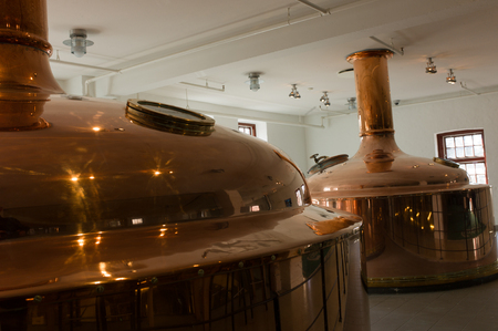 conveyors: The process of brewing, storage of rhthe beer in copper tanks Editorial