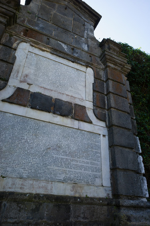 writer's block: Tomb of Roman poet Virgil who wrote the Aeneid famous companion of Dante39s Divine Comedy Naples Italy