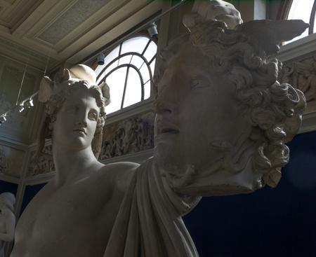 carlsberg: Perseus and Medusa, marble statues, Carlsberg museum Editorial