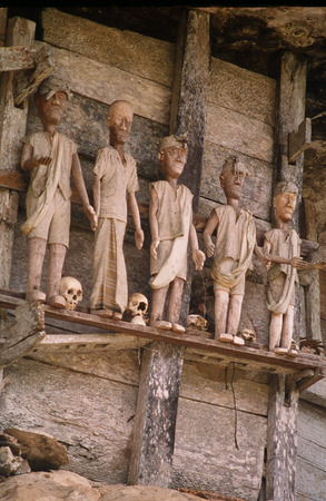 fetishes: fetishes and skeletons protectors, out of the homes, Sulawesi
