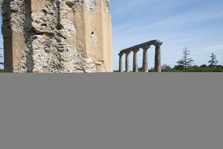 lucania: Palatine Tables, Hera Sanctuary in Metaponto, Basilicata, Italy