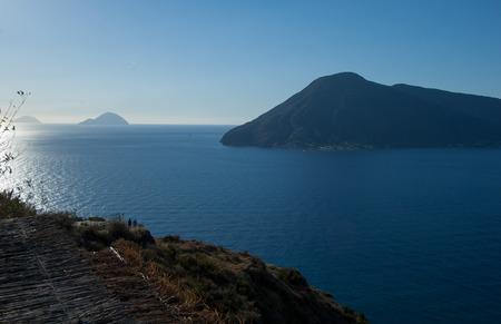 filicudi: Landscape from Lipari: Vulcano, Alicudi and Filicudi, Italy