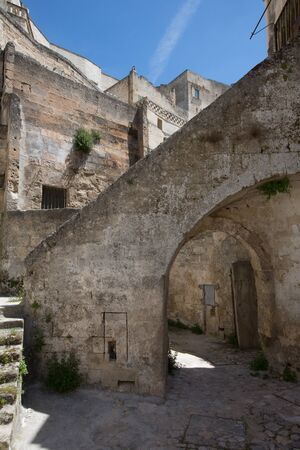 sassi: Matera, in  Italy with its caratheristics Sassi, troglodyte houses