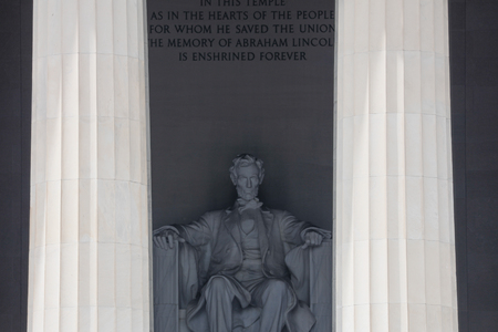 solemnity: The Lincoln Memorial attraction and lamdmark in Washington DC